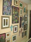 Sculptures and framed