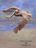 mixed-media-sculpture-and-canvas-pelican-on-beachscape
