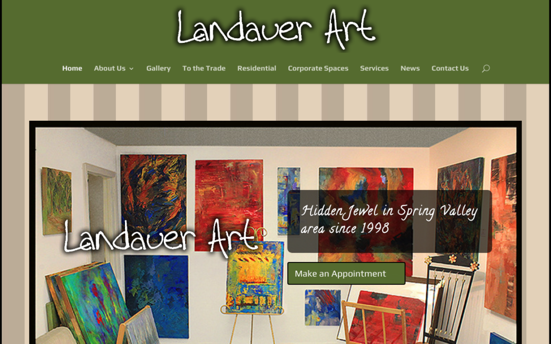 Landauer Art's new custom mobile friendly website